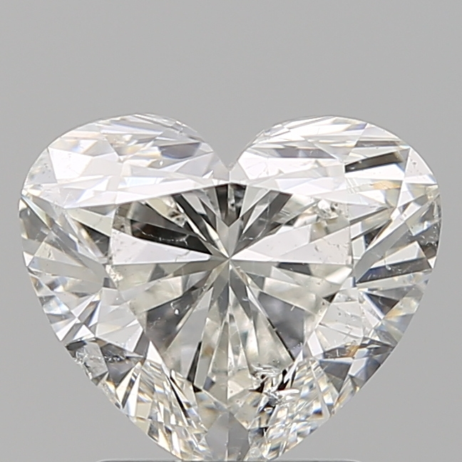 2.00 Carat Heart Loose Diamond, H, SI2, Super Ideal, GIA Certified | Thumbnail