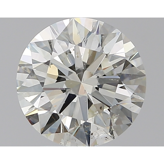 2.20 Carat Round Loose Diamond, J, SI2, Super Ideal, GIA Certified