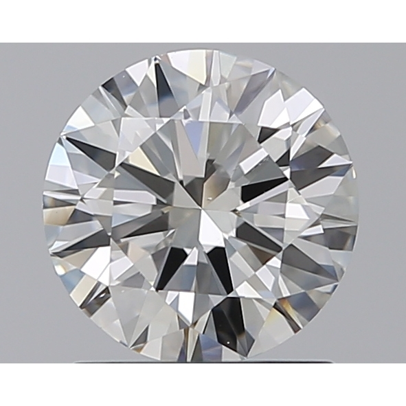 1.00 Carat Round Loose Diamond, H, VS1, Super Ideal, GIA Certified