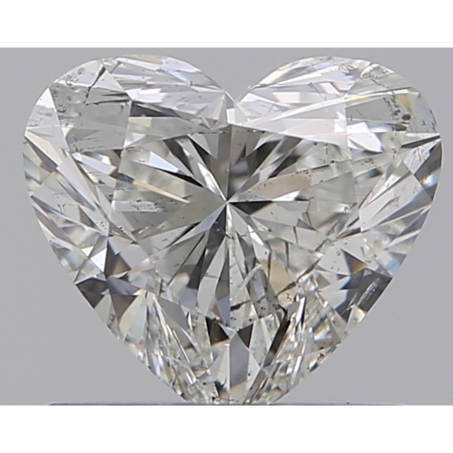 0.73 Carat Heart Loose Diamond, H, SI1, Super Ideal, GIA Certified | Thumbnail