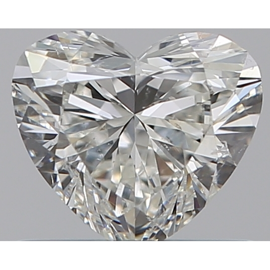 0.53 Carat Heart Loose Diamond, I, SI1, Super Ideal, GIA Certified