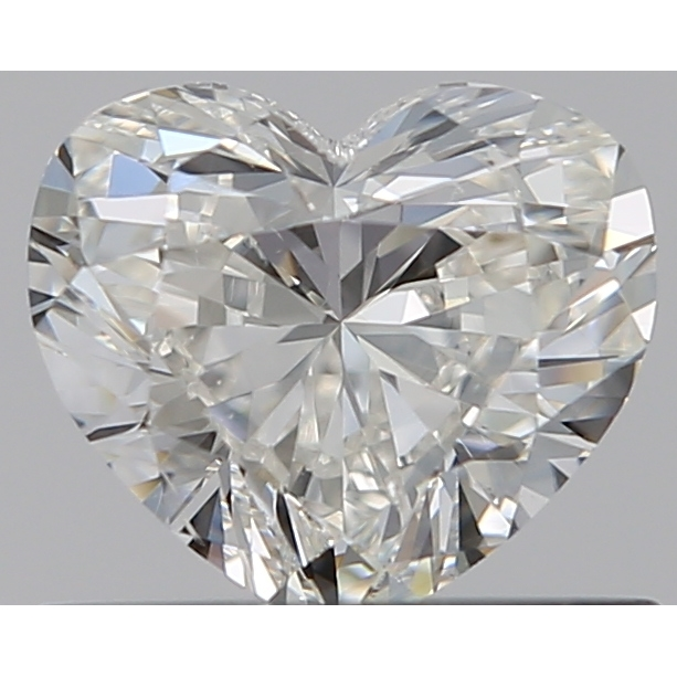 0.50 Carat Heart Loose Diamond, H, SI1, Ideal, GIA Certified