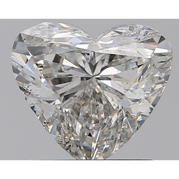1.00 Carat Heart Loose Diamond, H, SI2, Ideal, GIA Certified