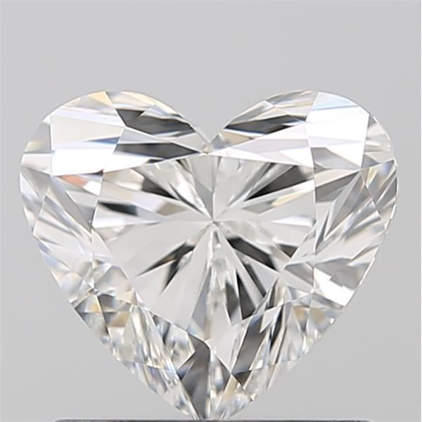 0.90 Carat Heart Loose Diamond, F, VVS1, Super Ideal, GIA Certified