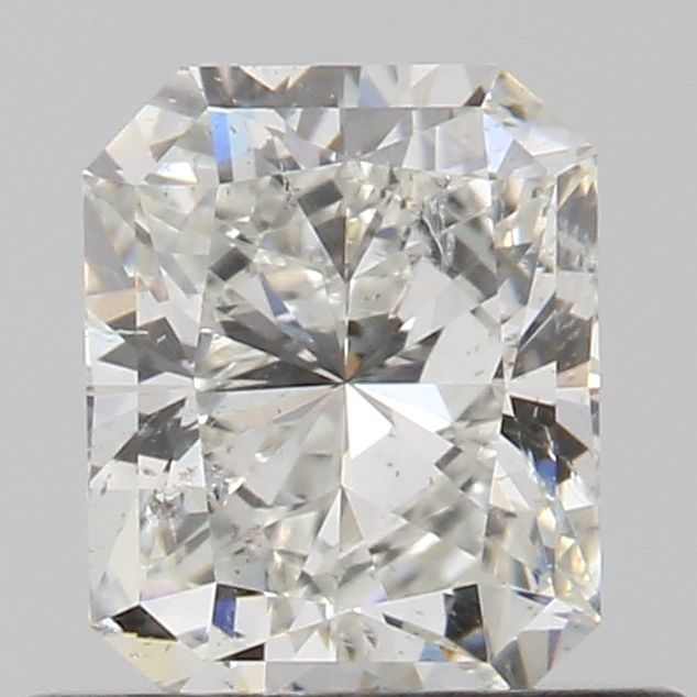 0.52 Carat Radiant Loose Diamond, H, SI2, Excellent, GIA Certified