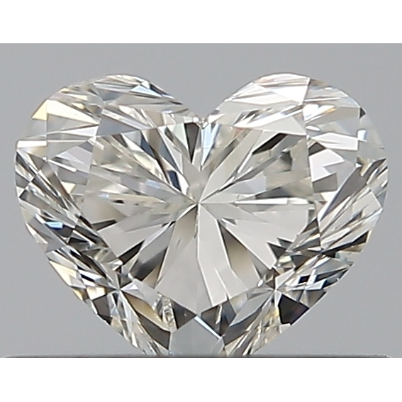 0.40 Carat Heart Loose Diamond, I, VS2, Ideal, GIA Certified | Thumbnail