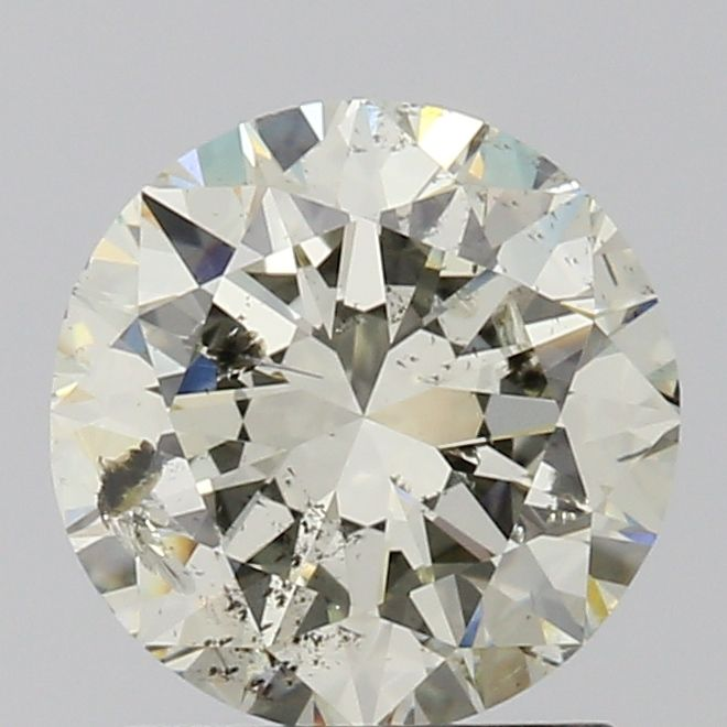 1.45 Carat Round Loose Diamond, M, I2, Excellent, GIA Certified