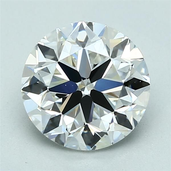 2.01 Carat Round Loose Diamond, H, VS1, Excellent, GIA Certified