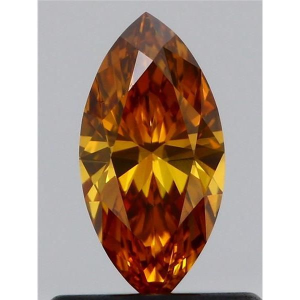 0.44 Carat Marquise Loose Diamond, Fancy Deep Yellowish Orange, SI1, Ideal, GIA Certified