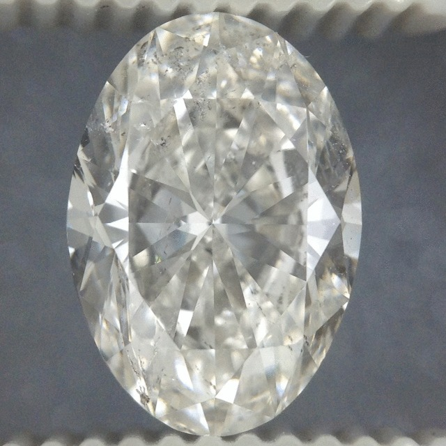 2.50 Carat Oval Loose Diamond, H, SI2, Super Ideal, GIA Certified