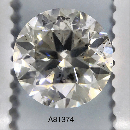 1.52 Carat Round Loose Diamond, H, I1, Very Good, GIA Certified