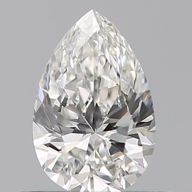 0.42 Carat Pear Loose Diamond, F, IF, Ideal, GIA Certified