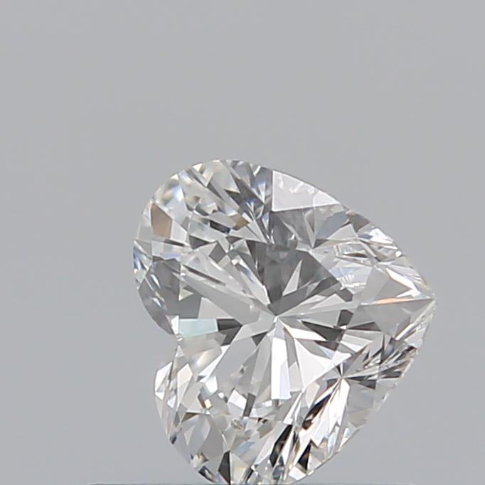 0.51 Carat Heart Loose Diamond, F, SI1, Ideal, GIA Certified