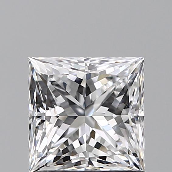 1.00 Carat Princess Loose Diamond, D, SI1, Super Ideal, GIA Certified