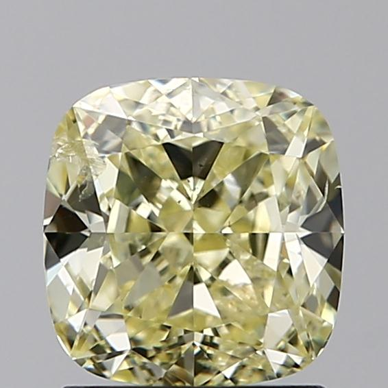 1.51 Carat Cushion Loose Diamond, FANCY, SI2, Super Ideal, GIA Certified
