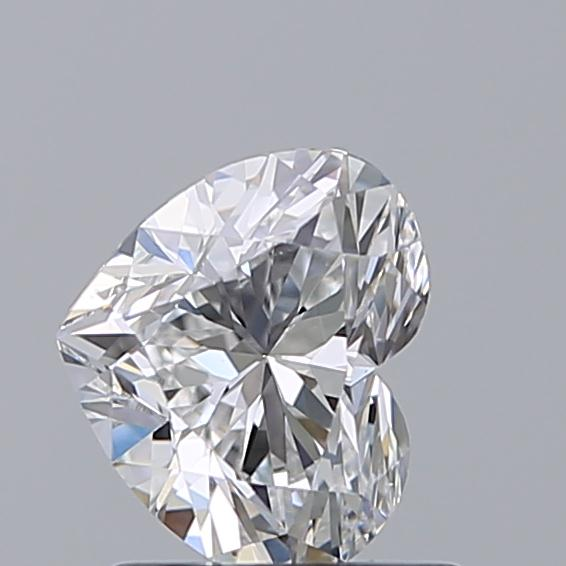 1.00 Carat Heart Loose Diamond, E, VS2, Ideal, GIA Certified