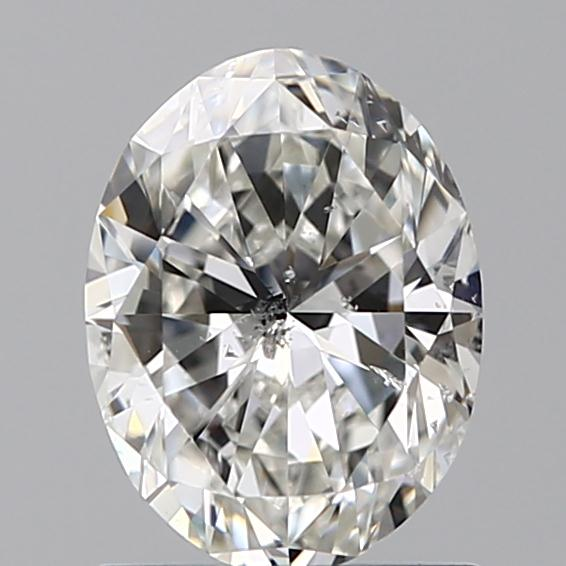 1.00 Carat Oval Loose Diamond, H, SI2, Ideal, GIA Certified