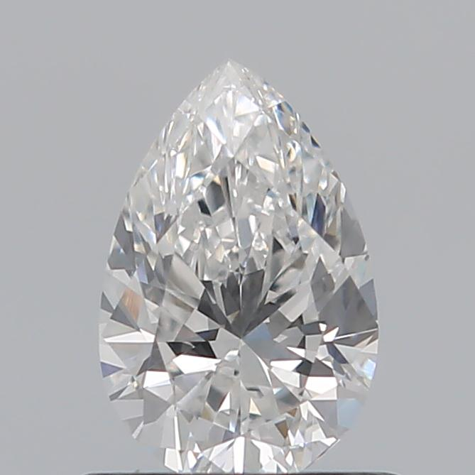0.59 Carat Pear Loose Diamond, F, VS2, Excellent, GIA Certified