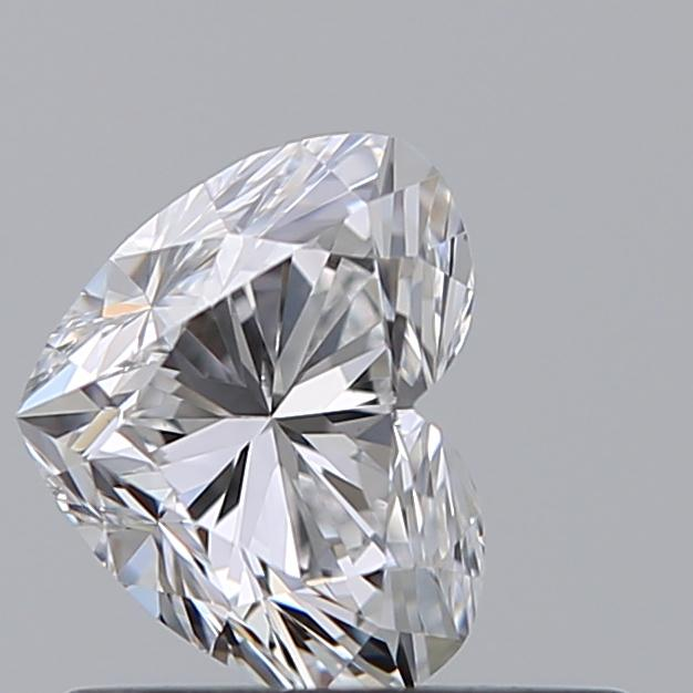 0.50 Carat Heart Loose Diamond, D, VS2, Ideal, GIA Certified