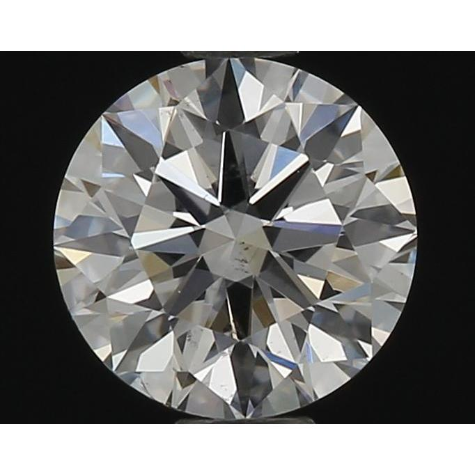 0.52 Carat Round Loose Diamond, F, SI1, Super Ideal, GIA Certified