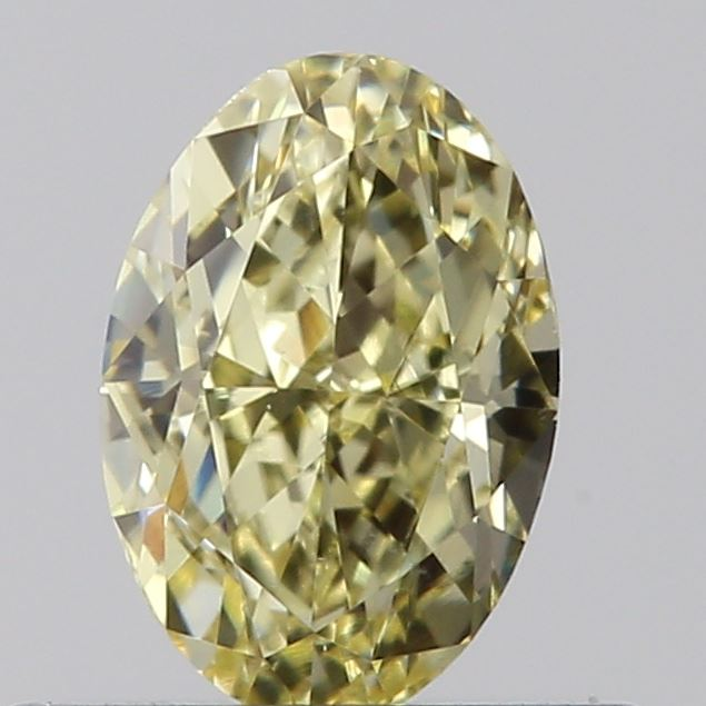 0.50 Carat Oval Loose Diamond, Fancy Yellow, VS2, Very Good, GIA Certified