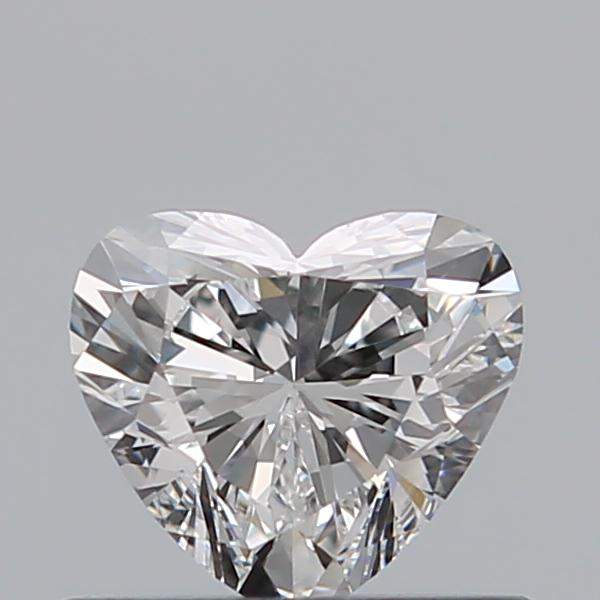 0.50 Carat Heart Loose Diamond, F, VVS2, Super Ideal, GIA Certified