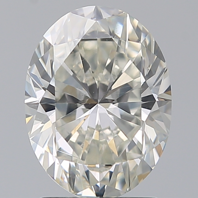 2.00 Carat Oval Loose Diamond, J, SI1, Ideal, GIA Certified