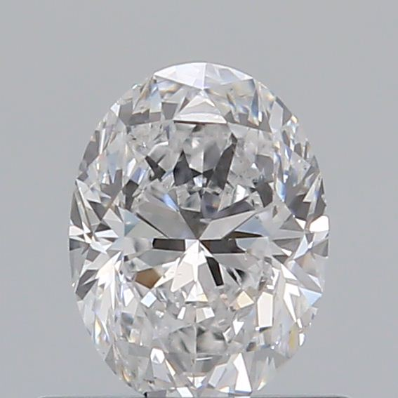 0.50 Carat Oval Loose Diamond, D, SI2, Excellent, GIA Certified
