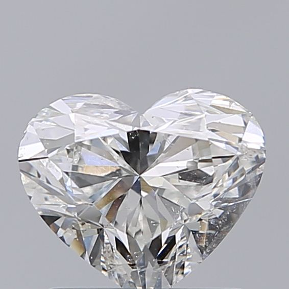 1.00 Carat Heart Loose Diamond, G, SI2, Excellent, GIA Certified