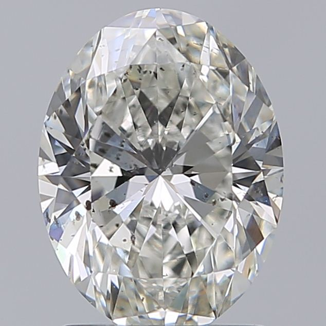 1.70 Carat Oval Loose Diamond, H, SI2, Super Ideal, GIA Certified