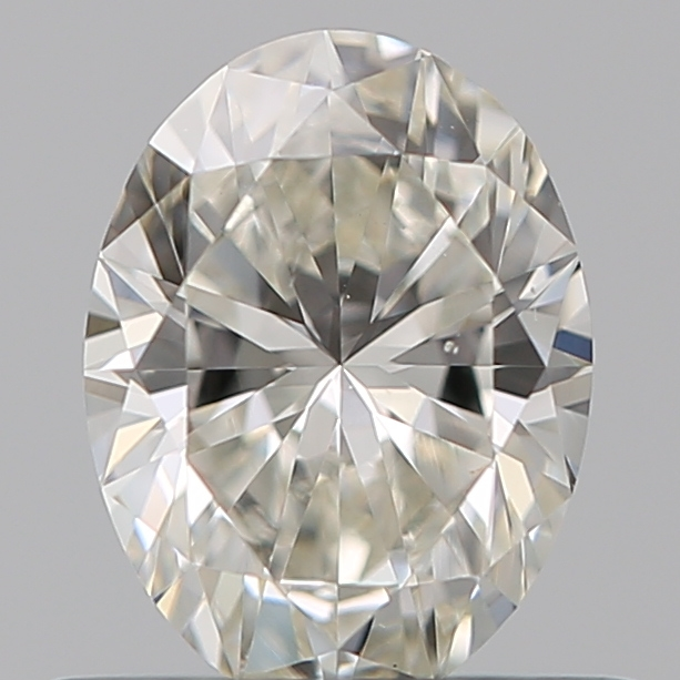 0.50 Carat Oval Loose Diamond, J, VS2, Super Ideal, GIA Certified | Thumbnail