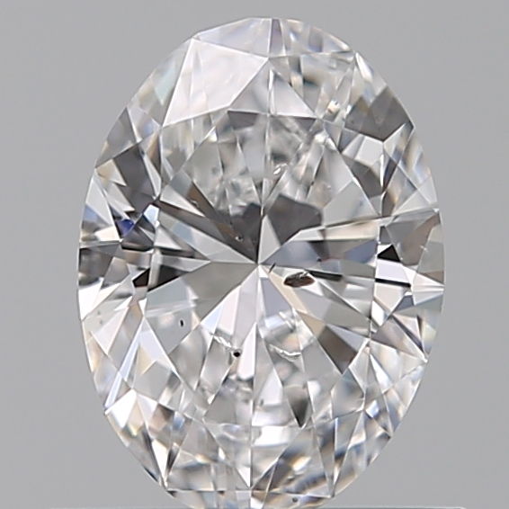 0.50 Carat Oval Loose Diamond, D, SI2, Super Ideal, GIA Certified