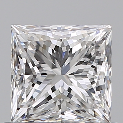 0.59 Carat Princess Loose Diamond, F, SI2, Super Ideal, GIA Certified