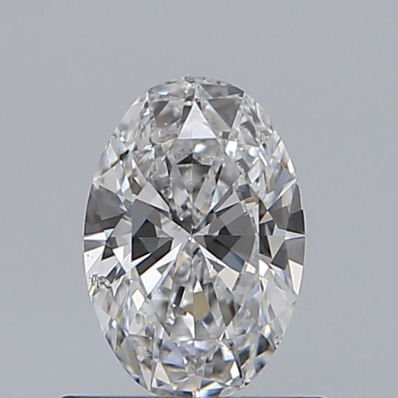 0.50 Carat Oval Loose Diamond, D, SI2, Ideal, GIA Certified