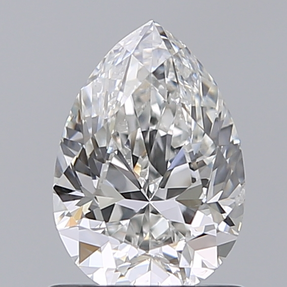 1.00 Carat Pear Loose Diamond, F, SI2, Excellent, GIA Certified
