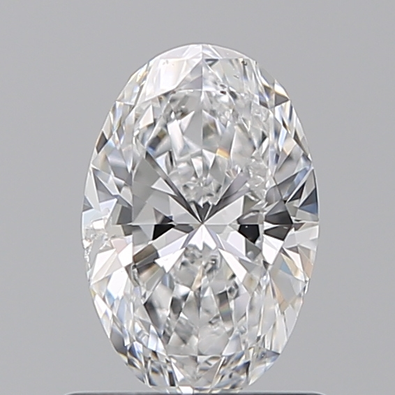 0.70 Carat Oval Loose Diamond, D, SI2, Super Ideal, GIA Certified