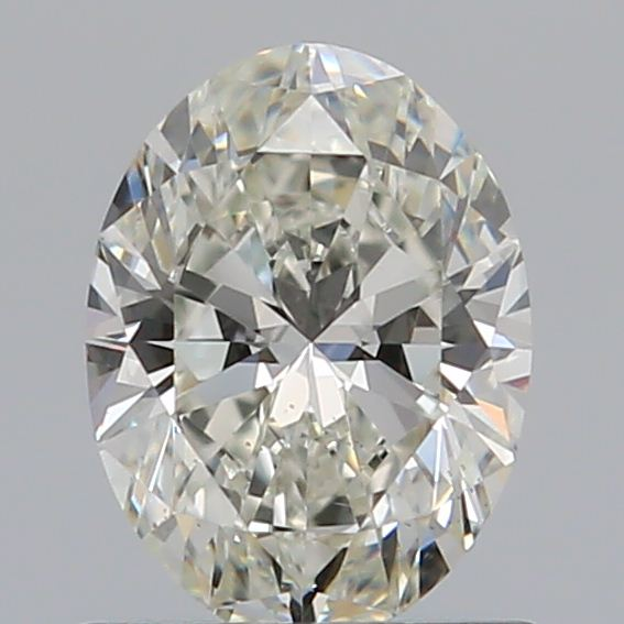 0.71 Carat Oval Loose Diamond, J, VS2, Super Ideal, GIA Certified | Thumbnail