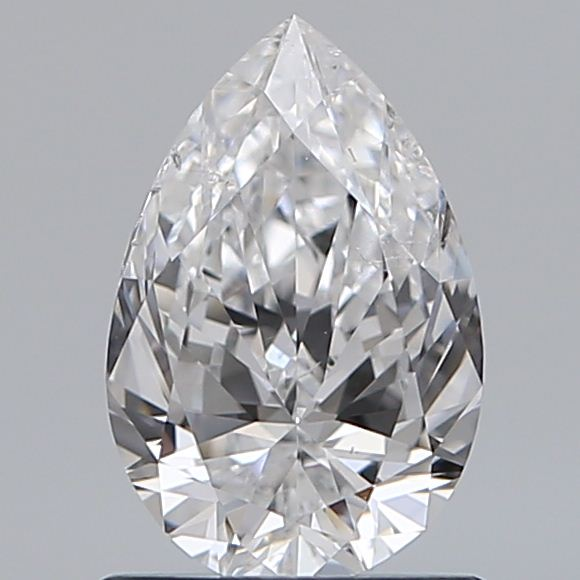 0.90 Carat Pear Loose Diamond, D, SI2, Ideal, GIA Certified | Thumbnail