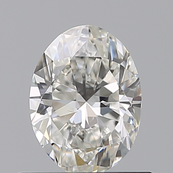0.50 Carat Oval Loose Diamond, H, VS2, Excellent, GIA Certified