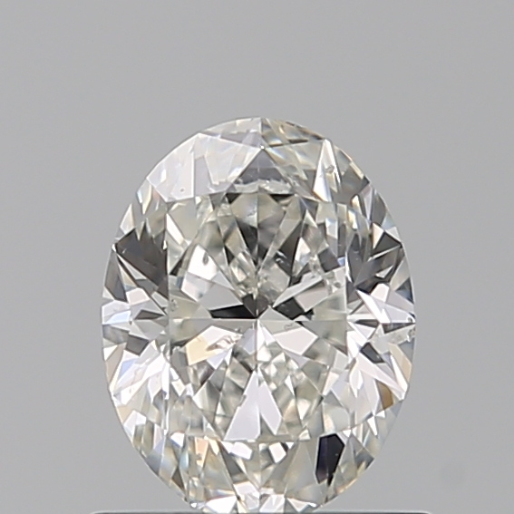 0.70 Carat Oval Loose Diamond, H, SI2, Excellent, GIA Certified