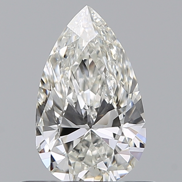 0.50 Carat Pear Loose Diamond, H, VS2, Excellent, GIA Certified