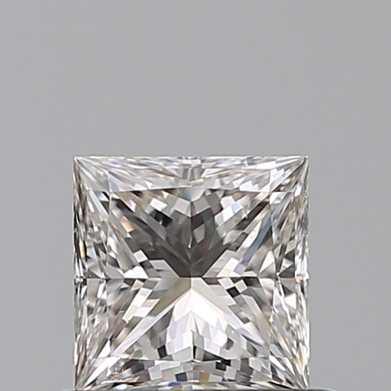 0.52 Carat Princess Loose Diamond, J, SI1, Super Ideal, GIA Certified
