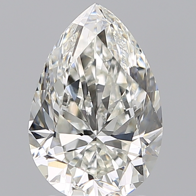 2.00 Carat Pear Loose Diamond, H, SI1, Ideal, GIA Certified