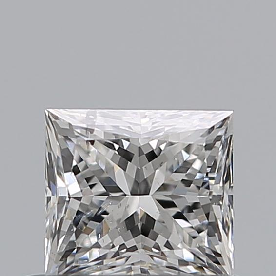 0.54 Carat Princess Loose Diamond, F, SI2, Excellent, GIA Certified