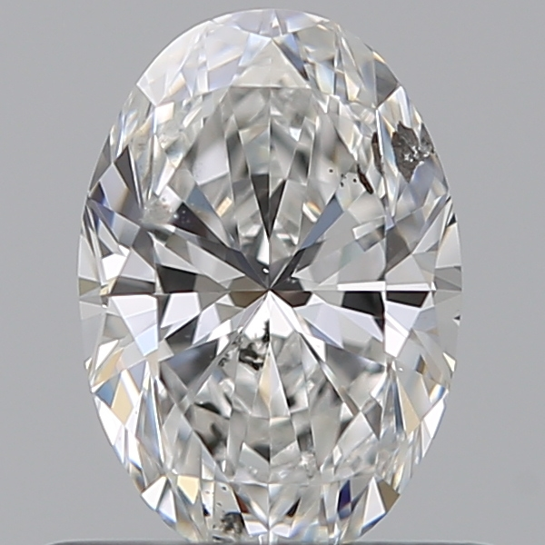 0.57 Carat Oval Loose Diamond, E, I1, Super Ideal, GIA Certified