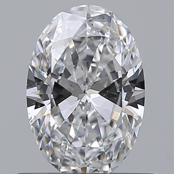 0.50 Carat Oval Loose Diamond, D, VS2, Excellent, GIA Certified