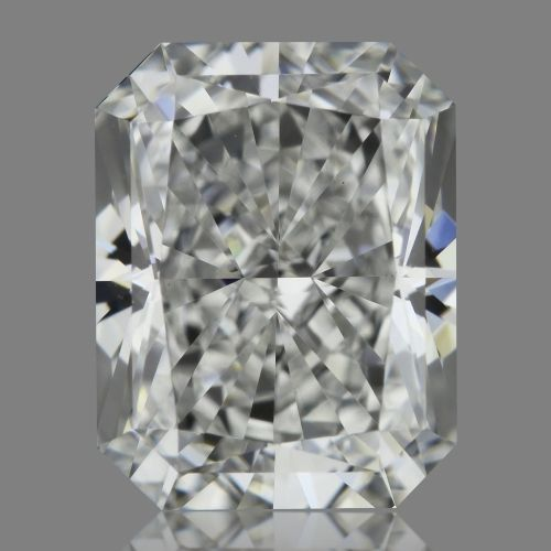0.91 Carat Radiant Loose Diamond, F, VVS2, Super Ideal, GIA Certified | Thumbnail