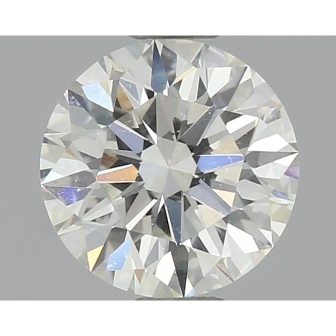 0.54 Carat Round Loose Diamond, H, VS2, Super Ideal, GIA Certified