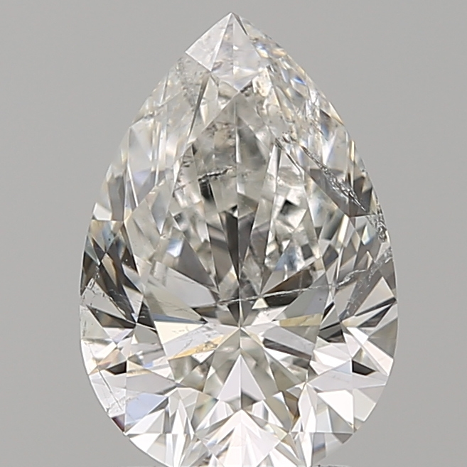 2.01 Carat Pear Loose Diamond, G, SI2, Super Ideal, GIA Certified