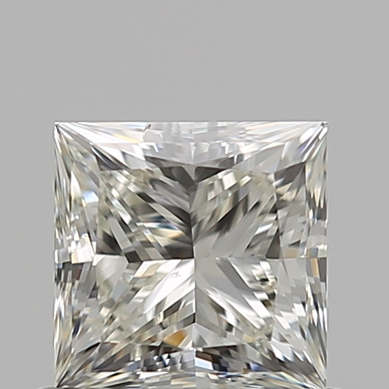 0.70 Carat Princess Loose Diamond, J, SI1, Ideal, GIA Certified